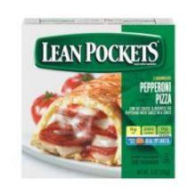 Nestle Lean Pockets Deluxe Pepperoni Pizza Stuffed Sandwich 9 Ounce