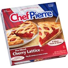 Chef Pierre Pre Sliced Cherry Lattice Pie 34 Ounce