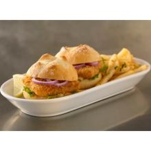Trident Seafoods OR Serpentine Cut Unbreaded Portion Pollock 20 Pound