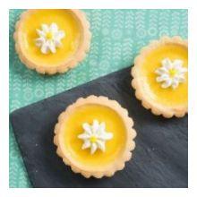 Baked Lemon Flower Tarts
