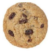 Oatmeal Raisin Bagged Gourmet Cookie Dough