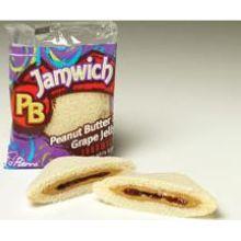 PB Jamwich Crustless Peanut Butter and Grape Jelly Sandwich on White Bread