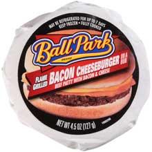 Ball Park Bacon Cheeseburger Sandwich