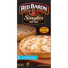 Red Baron Singles Deep Dish Four Cheese Pizza