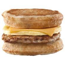 Maple Hot Cake with Sausage Egg and Cheese