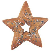 Star Shape Whole Grain with Blue and White Salt Soft Pretzel