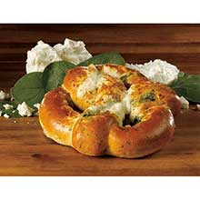Spinach Feta Stuffed Pretzels