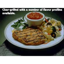 Natural Shape Italian Grilled All Chicken Breast Pattie