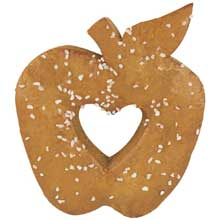 Apple Shaped Whole Grain Soft Pretzel