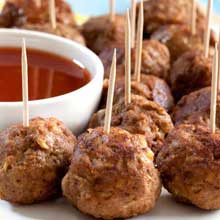 Fully Cooked 1 Ounce Beef Meatball