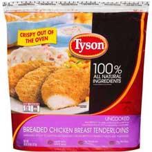 Uncooked Breaded Chicken Breast Tenderloin