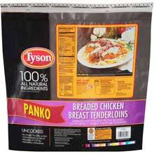 Uncooked Panko Breaded Chicken Breast Tenderloin