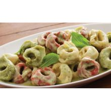 Tri Color Cheese Tortellini with Creamy Pesto Sauce