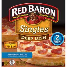 Deep Dish Singles Pepperoni Pizza