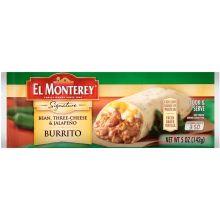 Signature Bean Three Cheese and Jalapeno Burrito 5 Ounce