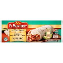 Signature Chicken and Monterey Jack Cheese Burrito 5 Ounce