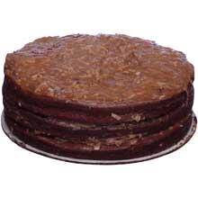 Round Traditional German Chocolate Premium Butter Cream Layer Cake 9 inch