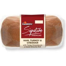 Signature Line Ham Turkey and Cheddar on Brioche Roll