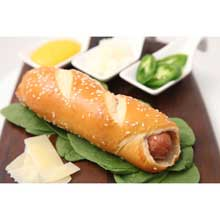 Sausage Cheddar Handcrafted Pretzel
