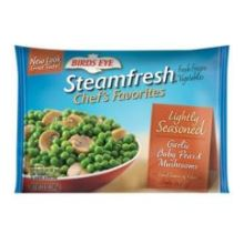 Steamfresh Chefs Favorites Lightly Seasoned Garlic Baby Peas and Mushrooms