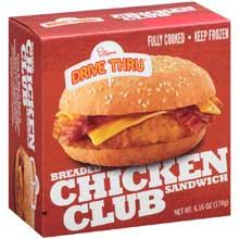 Breaded Chicken Club Sandwich