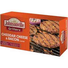 Cheddar Cheese and Real Bacon Flavor Bratwurst Patties