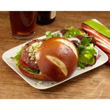 Pretzel Sliced Hamburger Bun