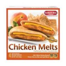 Chicken Melt Flatbread Pocket Sandwich