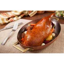 Partially Deboned Fully Cooked Gourmet Roasted Duck Halves