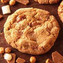 Unbaked Salted Caramel Crunch Manifesto Cookie Puck