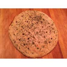 Basil and Sea Salt Ciabatta Pizza Crust