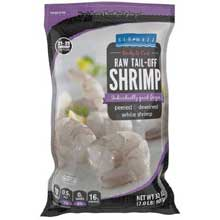 21 25 Raw Tail Off White Shrimp