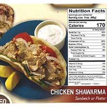 Halal Chicken Shawarma Sandwich