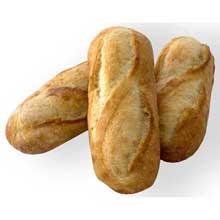 Non Sliced Fully Baked Artisan Baguette Hoagie Bread