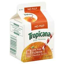 Tropicana Pure Premium Original Orange Juice 6 Ounce