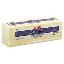 Kraft Regular American Sliced White Cheese 5 Pound