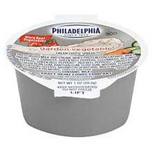 Philadelphia Garden Vegetable Cream Cheese - Cup 1 Ounce