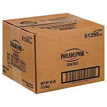 Philadelphia West Coast Original Cream Cheese - Carton 30 Pound