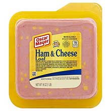 Oscar Mayer Square Ham and Cheese Loaf 16 Ounce