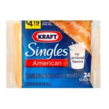 Singles American Colored Processed Slice Cheese