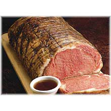 Prime Rib Beef Select Cooked Rare 12 Percent Injected Unsliced