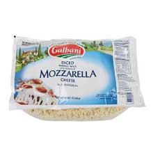 Premium Whole Milk Low Moisture Mozzarella Large Dice