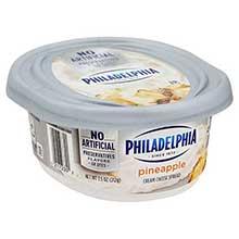 Philadelphia Soft Pineapple Cream Cheese Spread 8 Ounce