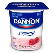 Creamy Raspberry and Cherry Twin Pack Yogurt, 4 Ounce -- 48 per case.