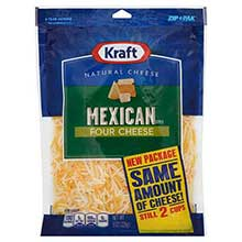 Finely Shredded Mexican Style Four Cheese