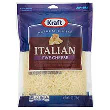 Natural Shredded Italian Five Cheese