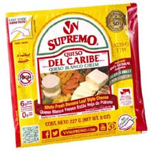 Queso Del Caribe Blanco Cheese 8 Ounce