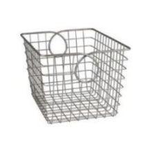 Satin Nickel PC Teardrop Small Basket