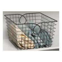 Cool Gray Teardrop Large Basket