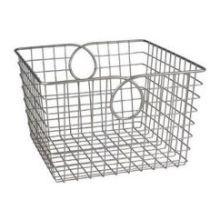 Satin Nickel PC Teardrop Large Basket